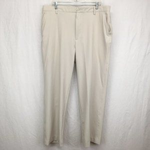 FJ Footjoy Mens Golf Pants 38x30 Khaki Tan